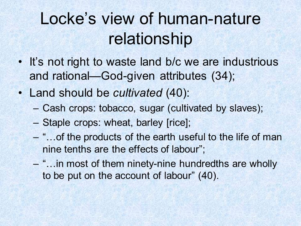 Human nature in relation to the