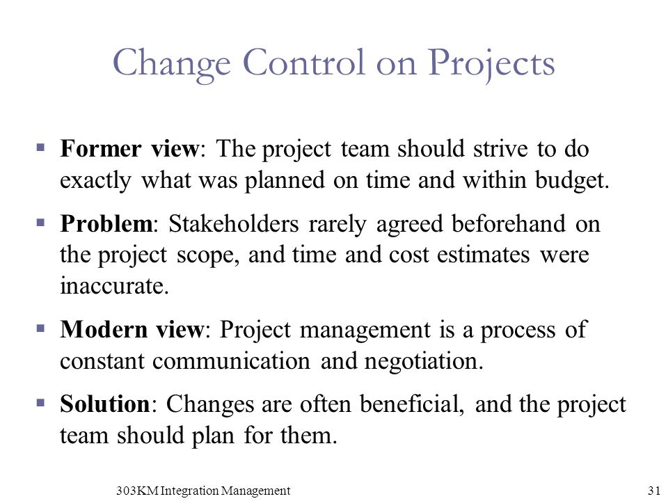 Change Control on Projects