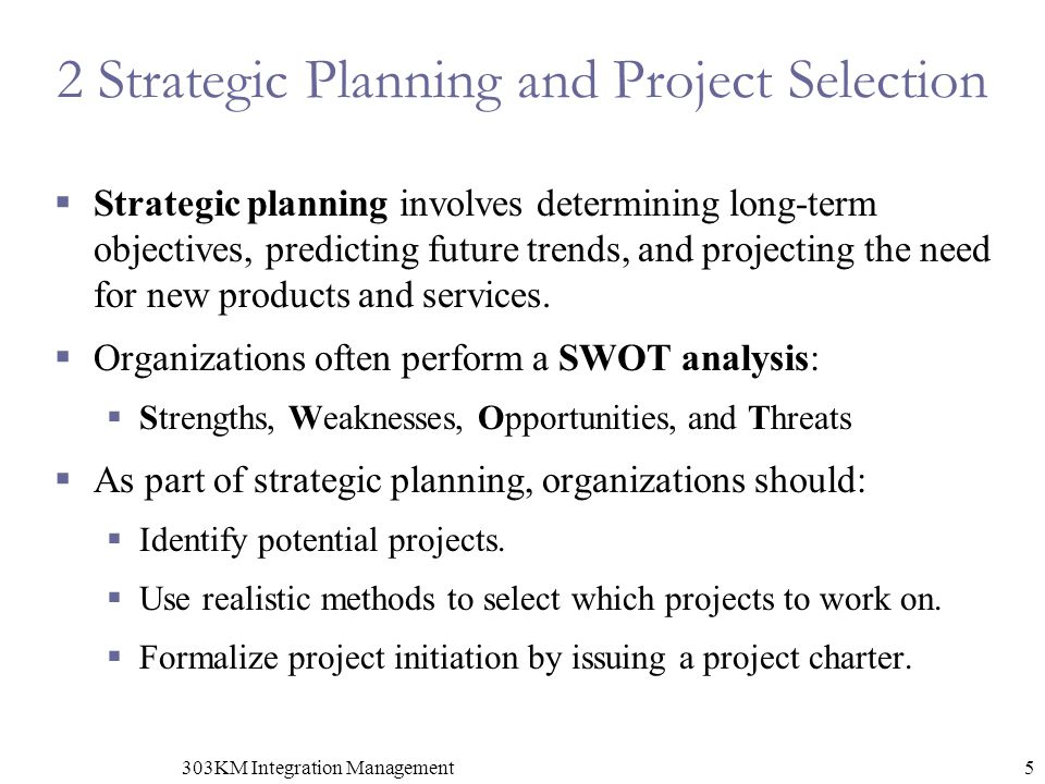 2 Strategic Planning and Project Selection
