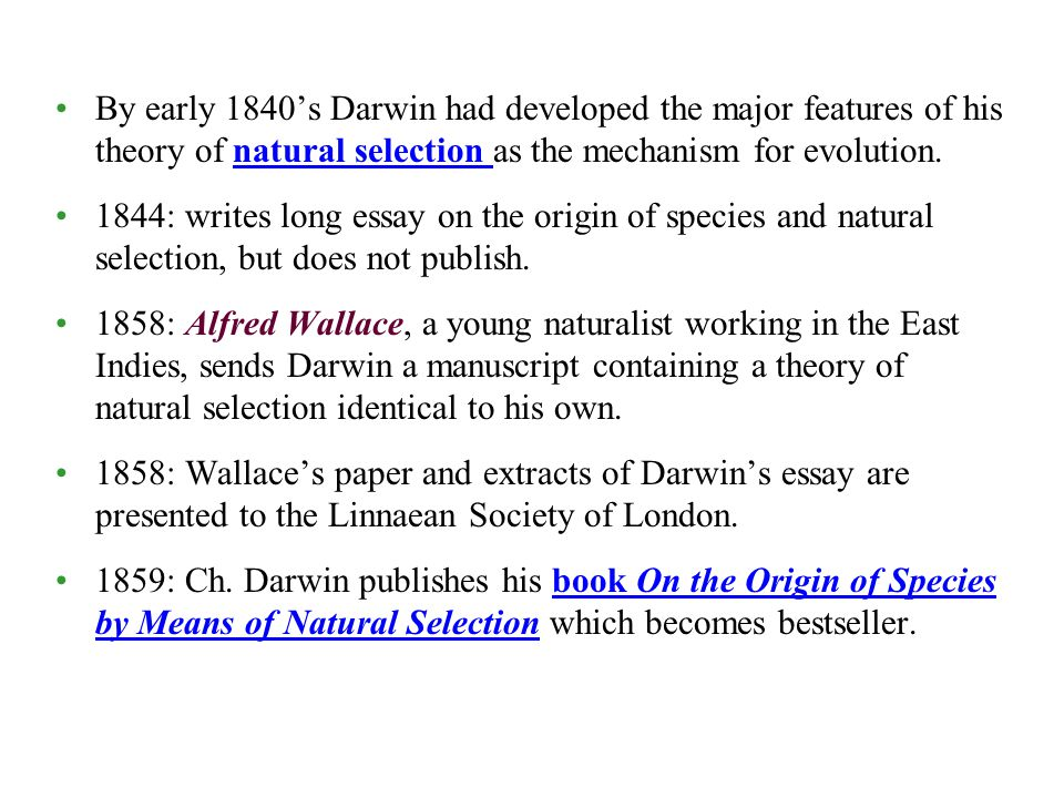 chapter populations evolve ppt  by early 1840 s darwin had developed the major features of his theory of natural selection as