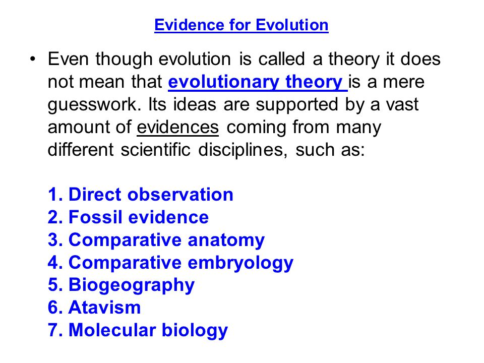 an analysis of the many ideas on the theory of evolution No contrary to what many people suppose, the debate over intelligent design is much broader than the debate over darwin's theory of evolution that's because much of the scientific evidence for intelligent design comes from areas that darwin's theory doesn't even address.