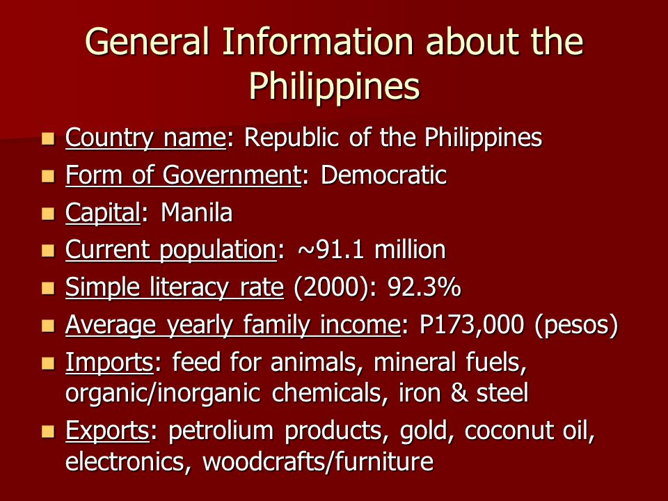 information literacy in the philippines essay Information literacy is the ability to discover and use various types of information it's an essential skill for navigating the information age watch this course to learn about strategies for finding information—from a library, archive, database, or the internet—and the ethics of using it.
