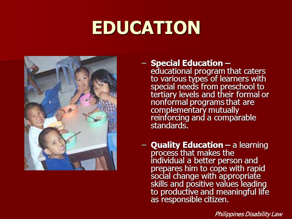 programs that serve learners with disabilities Meeting the needs of english learners with disabilities resource book by jarice butterfield santa barbara county selpa on behalf of the state selpa association.