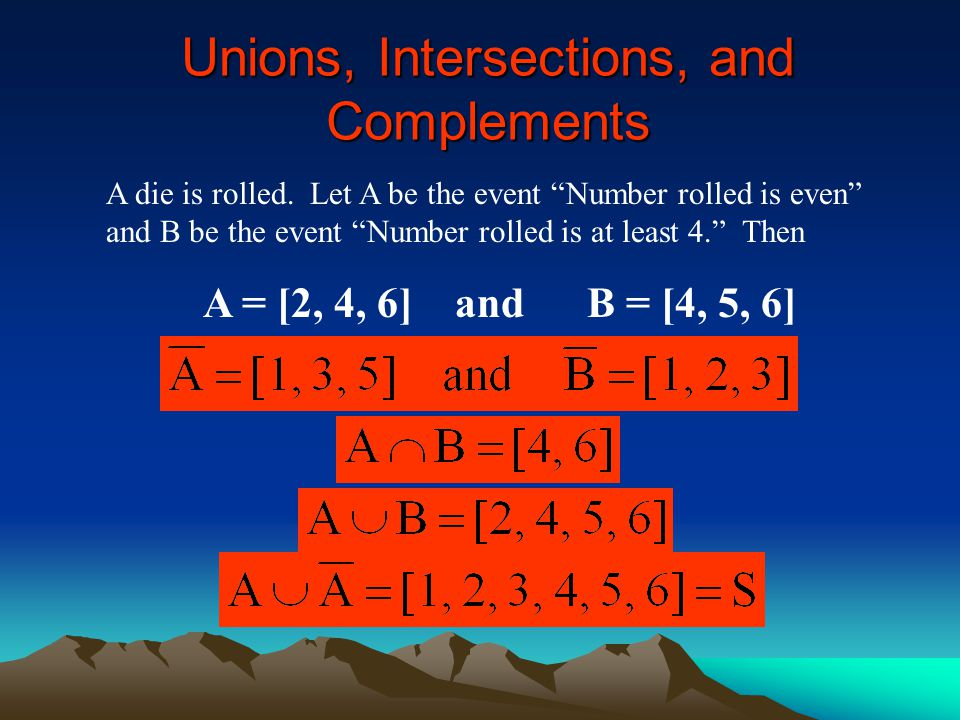 Unions, Intersections, and Complements