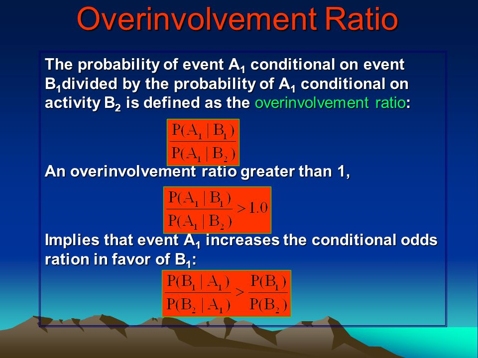 Overinvolvement Ratio