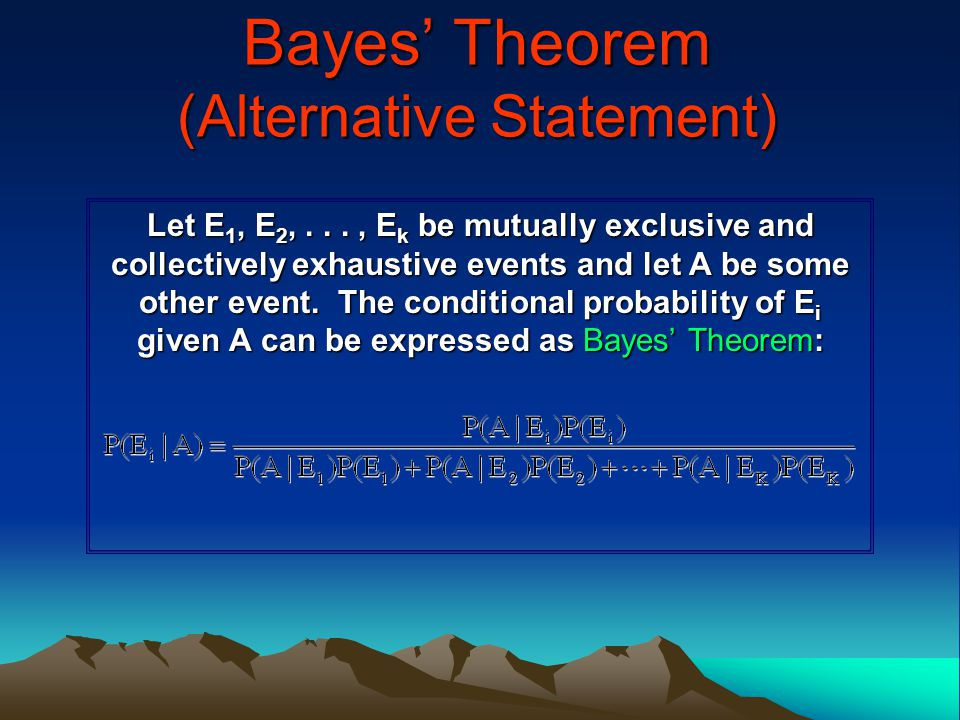 Bayes' Theorem (Alternative Statement)