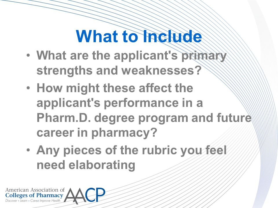 pharmacist strengths and weaknesses Wishing to assess a different type of organization or pharmacy environment may  use this assessment  strengths and weaknesses of the pharmacy in serving.