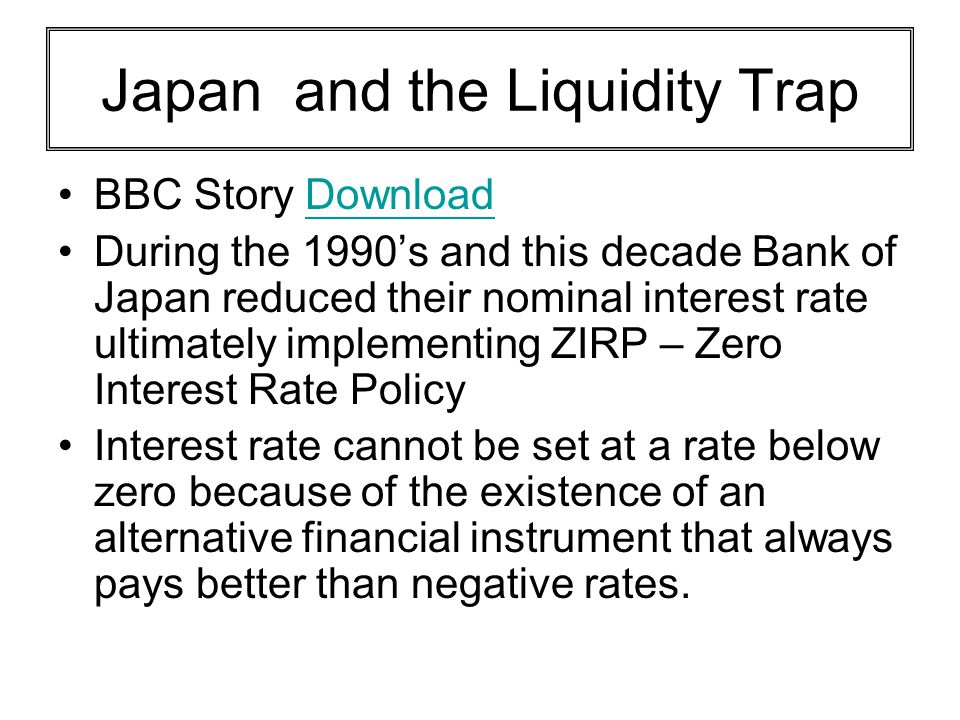 Japan and the Liquidity Trap