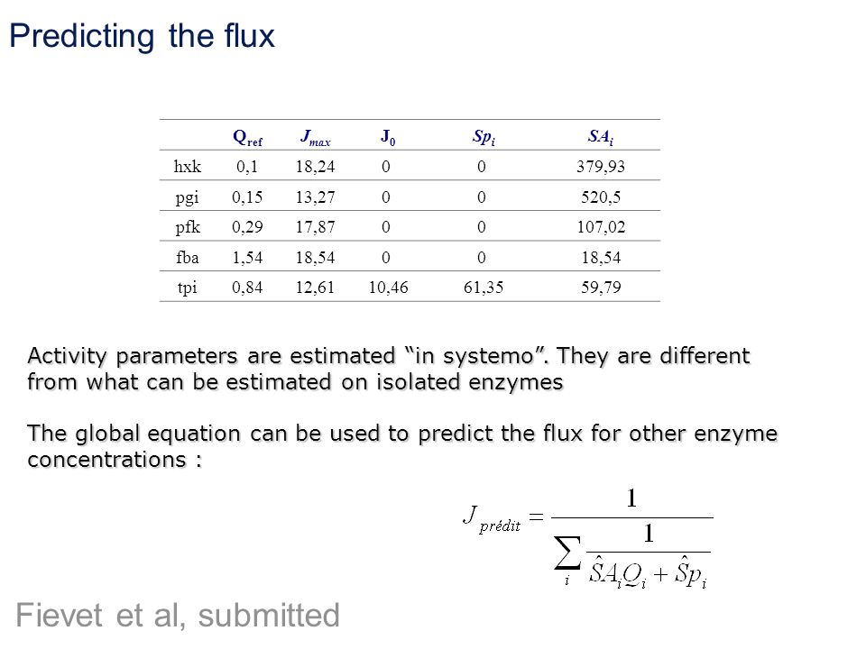 Predicting the flux Fievet et al, submitted