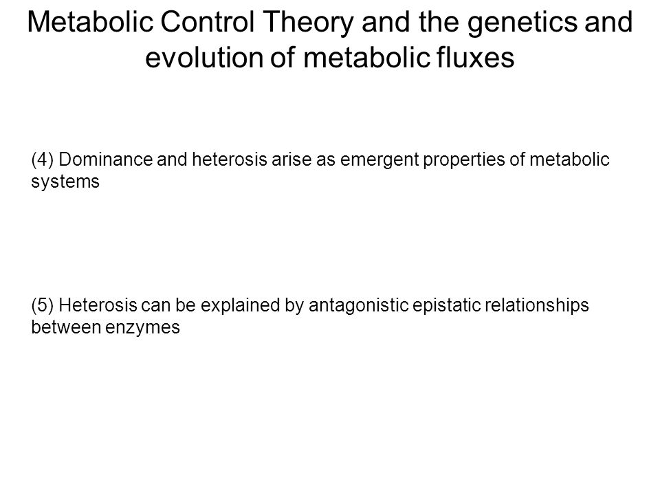 Metabolic Control Theory and the genetics and evolution of metabolic fluxes