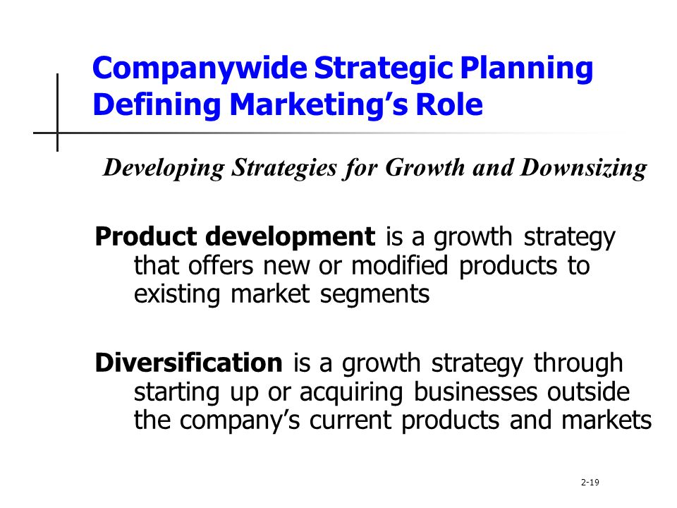 Companywide Strategic Planning Defining Marketing's Role