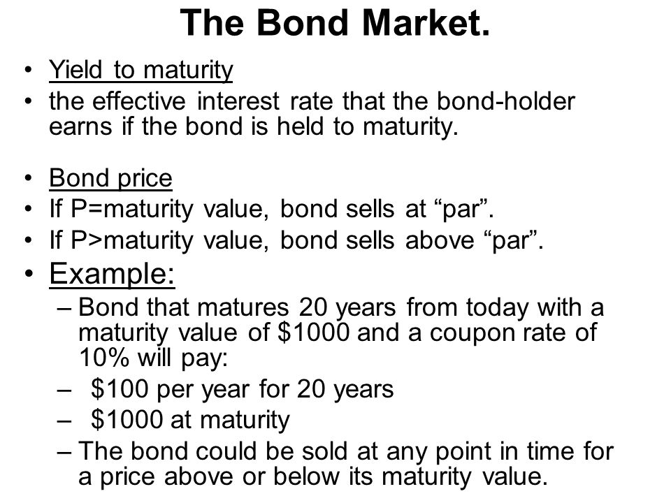 how to solve for yield to maturity