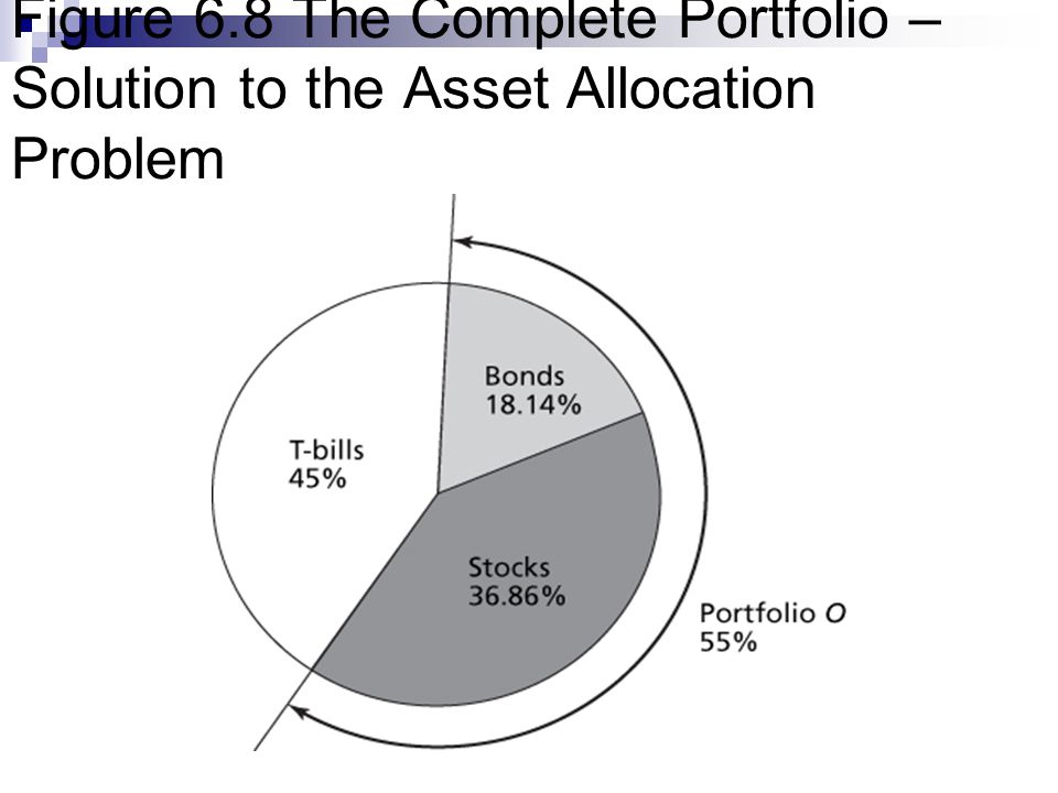Figure 6.8 The Complete Portfolio – Solution to the Asset Allocation Problem