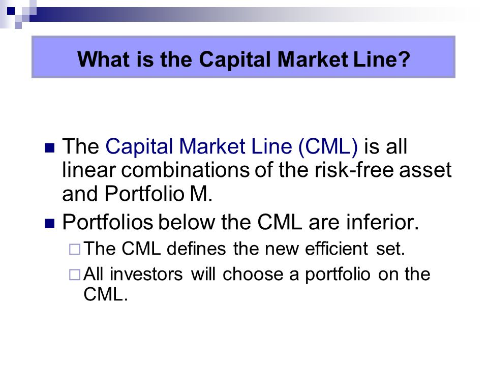 What is the Capital Market Line