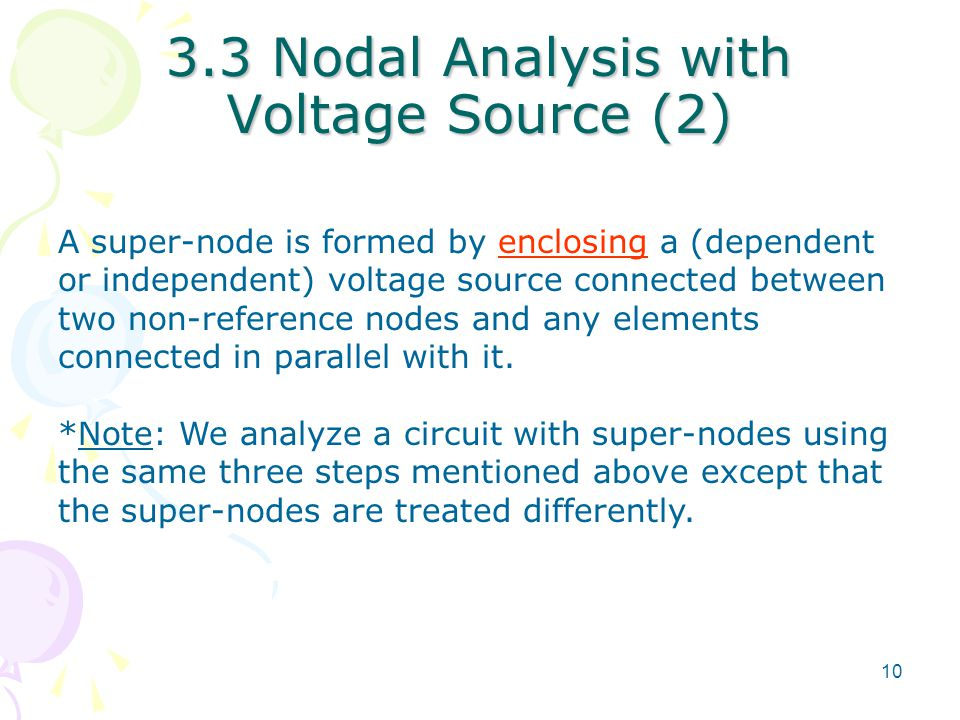 3.3 Nodal Analysis with Voltage Source (2)