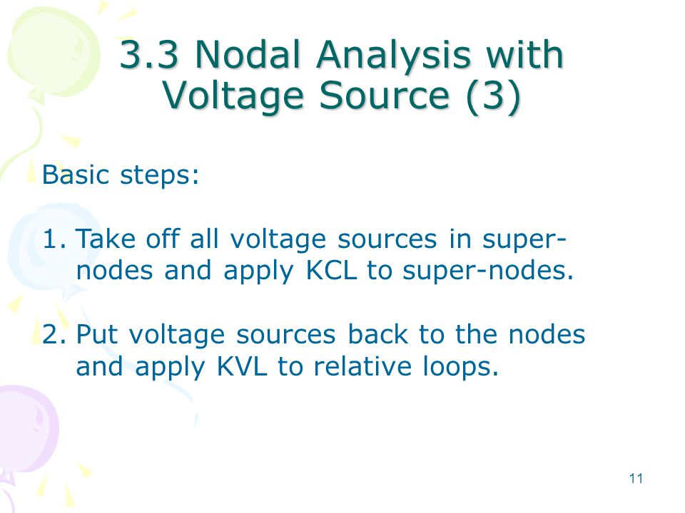 3.3 Nodal Analysis with Voltage Source (3)
