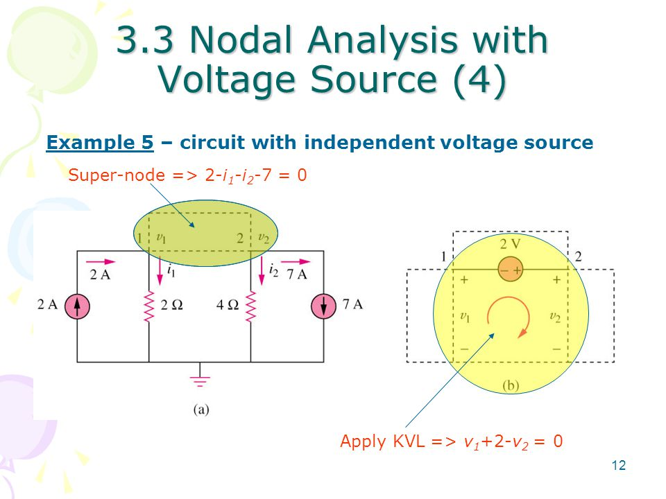 3.3 Nodal Analysis with Voltage Source (4)