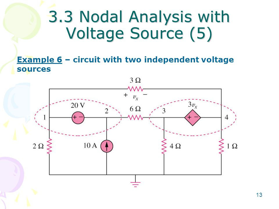 3.3 Nodal Analysis with Voltage Source (5)