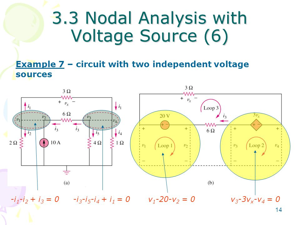 3.3 Nodal Analysis with Voltage Source (6)
