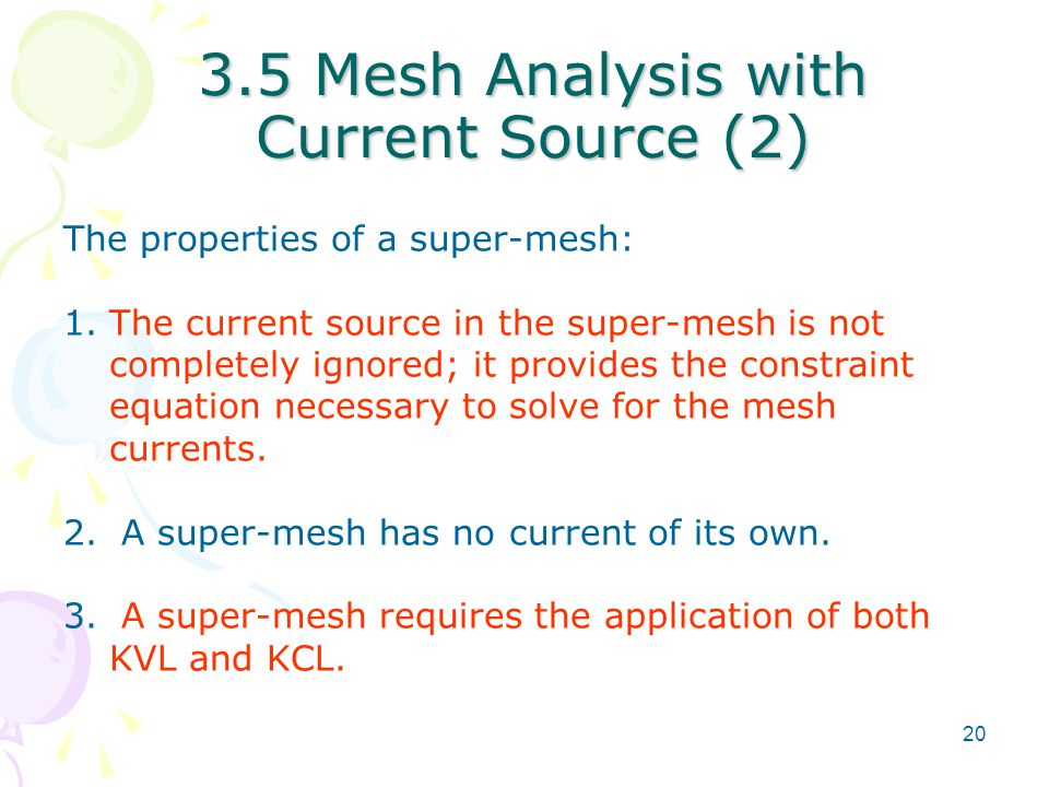 3.5 Mesh Analysis with Current Source (2)