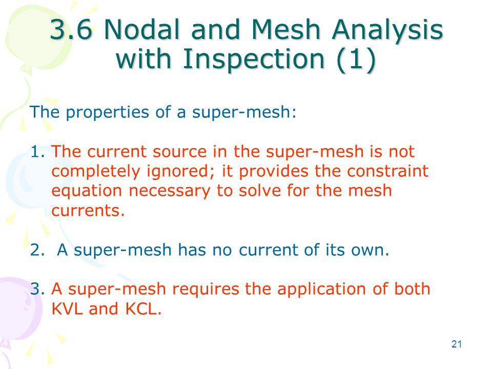 3.6 Nodal and Mesh Analysis with Inspection (1)