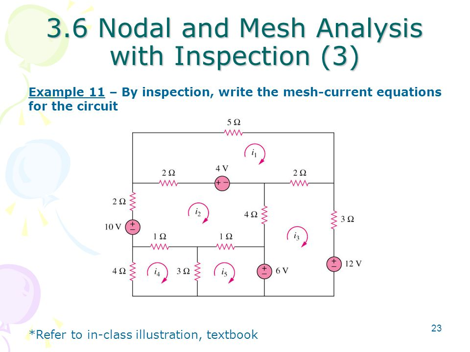 3.6 Nodal and Mesh Analysis with Inspection (3)