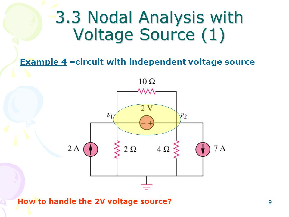 3.3 Nodal Analysis with Voltage Source (1)