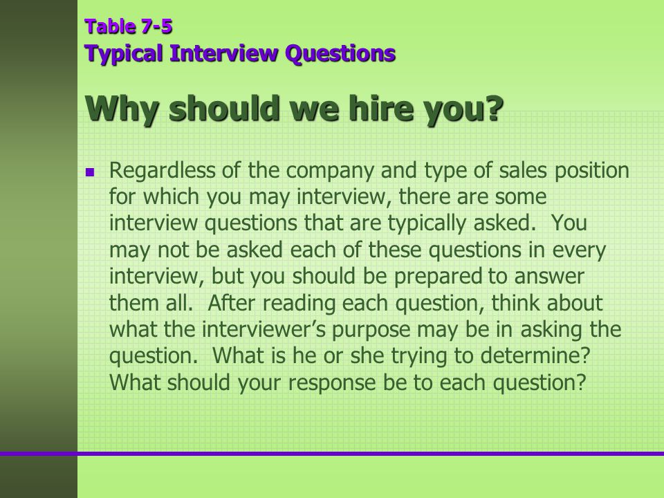 Why Should We Hire You For This Position. Why Should We Hire You Interview  Question ...