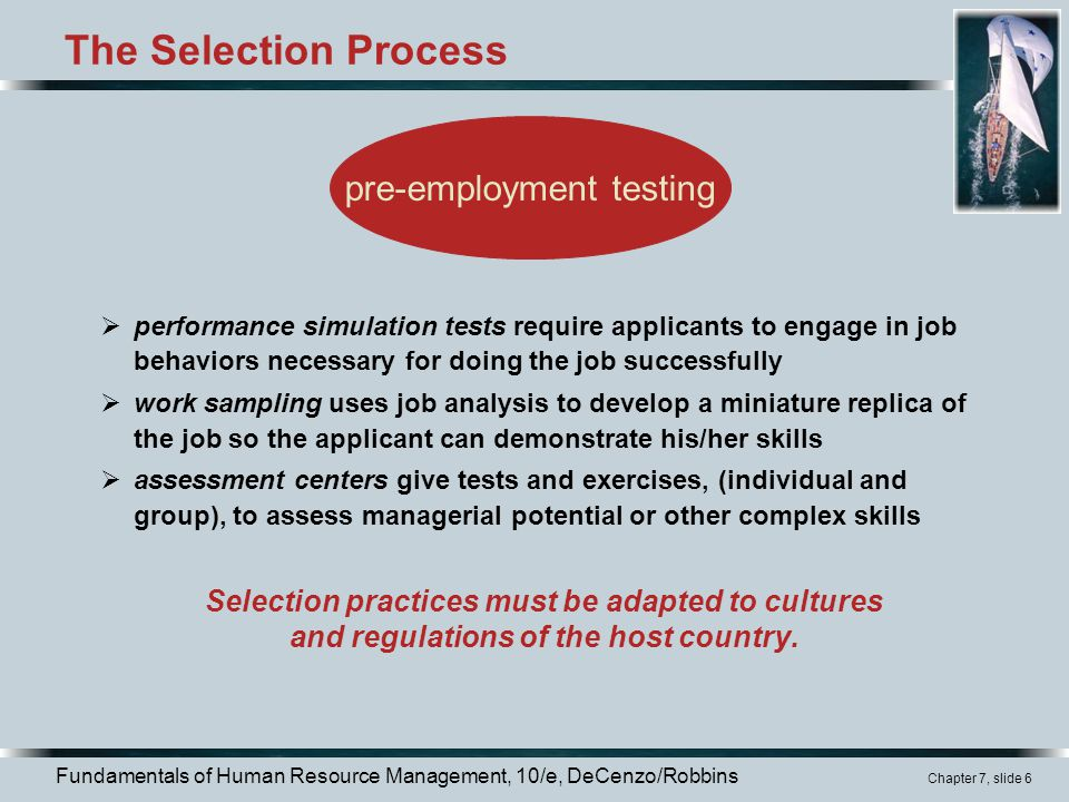 The Selection Process pre-employment testing