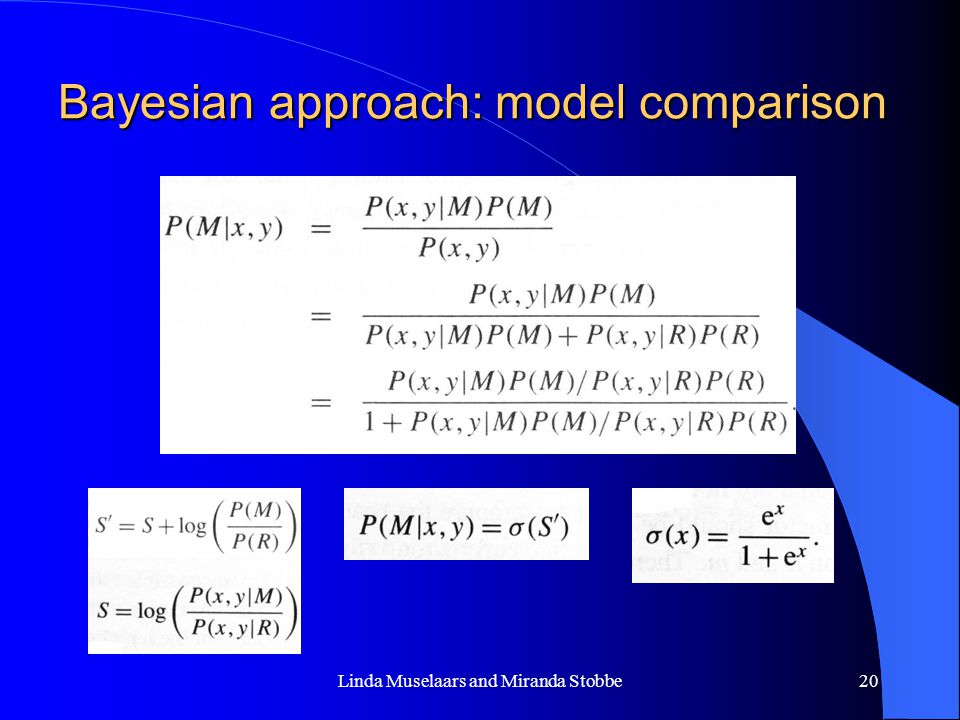 Bayesian approach: model comparison