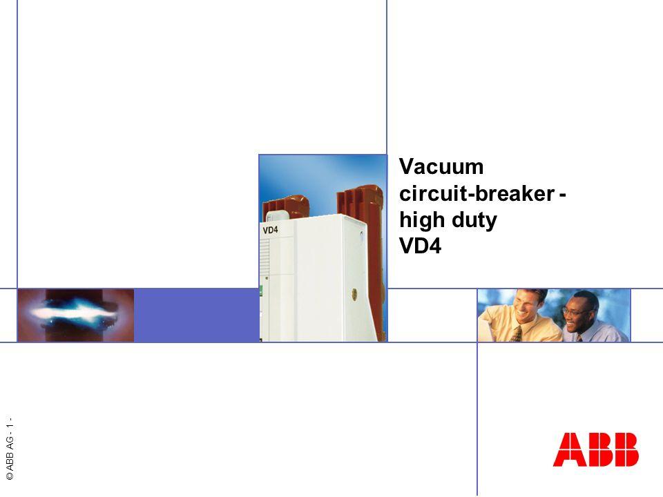 Vacuum circuit-breaker - high duty VD4