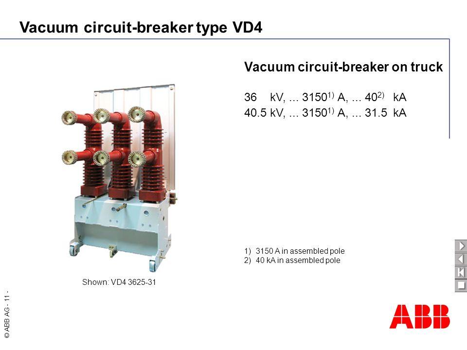 Vacuum circuit-breaker on truck
