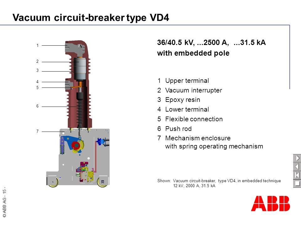 36/40.5 kV, ...2500 A, ...31.5 kA with embedded pole 1 Upper terminal