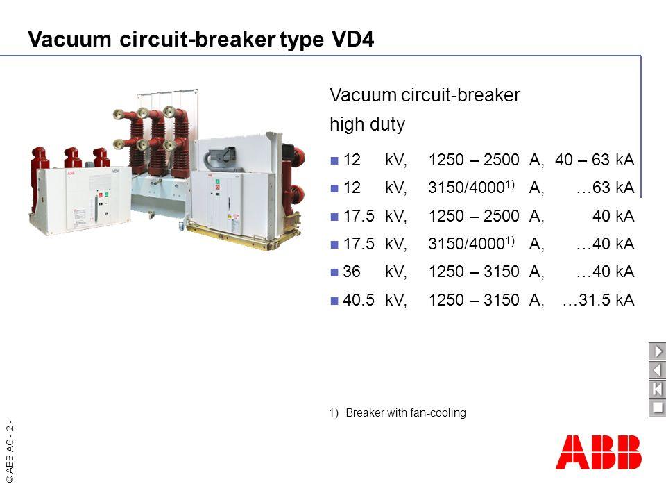 Vacuum circuit-breaker high duty