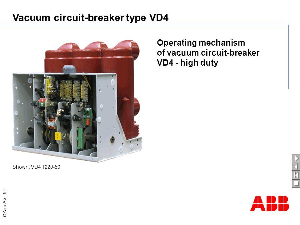 of vacuum circuit-breaker VD4 - high duty