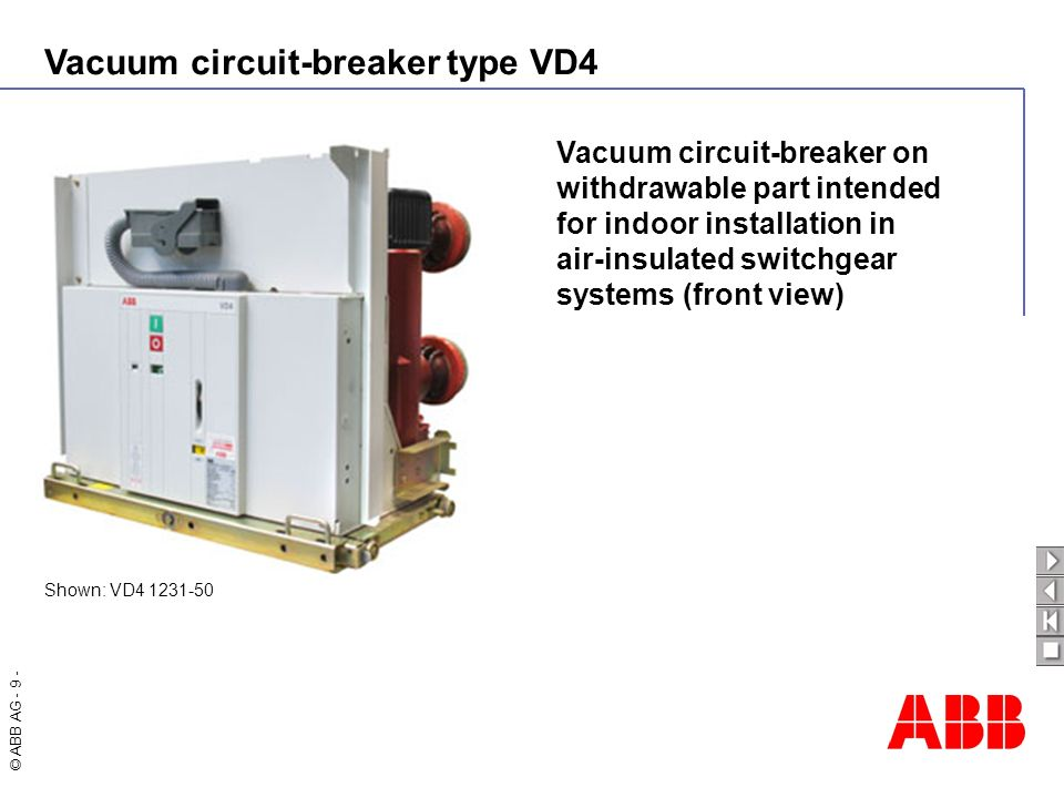 Vacuum circuit-breaker on