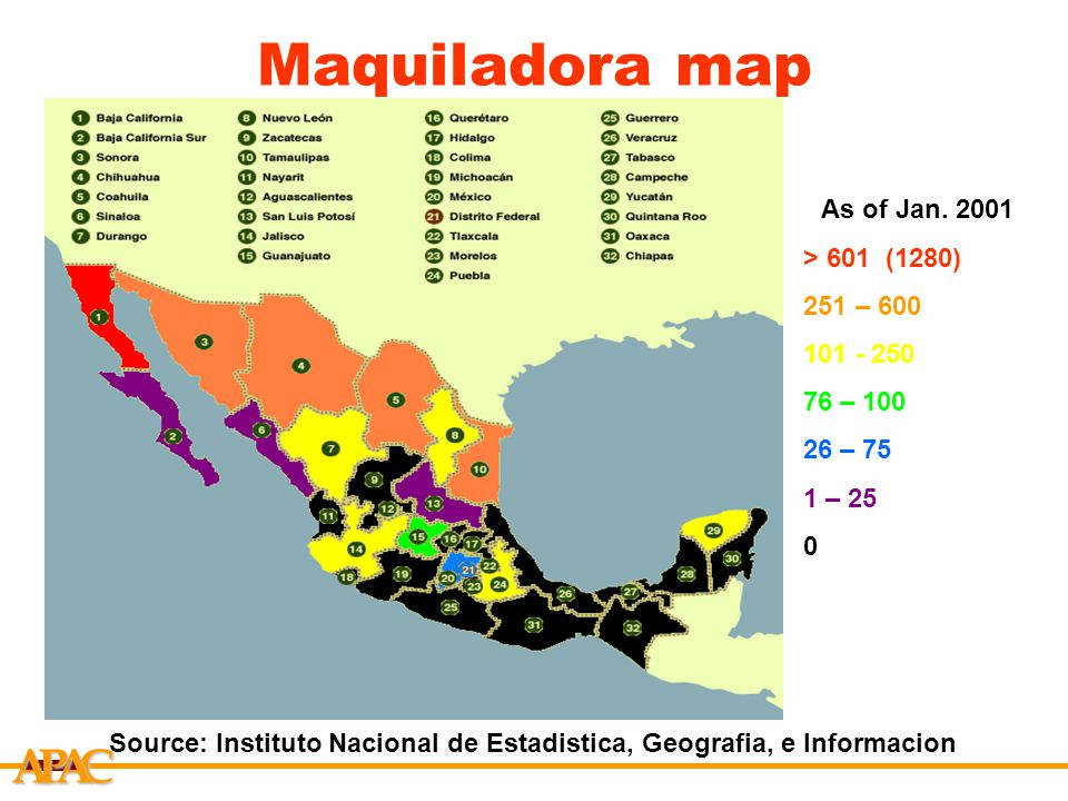 mexico maquiladora What are maquiladoras december 12, 2016 a maquiladora is a factory or manufacturing operation in mexico run by a foreign company and exporting its products to the country of that company.