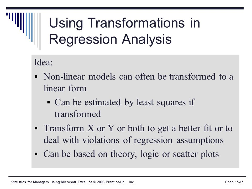 how to develop a regression model using excel