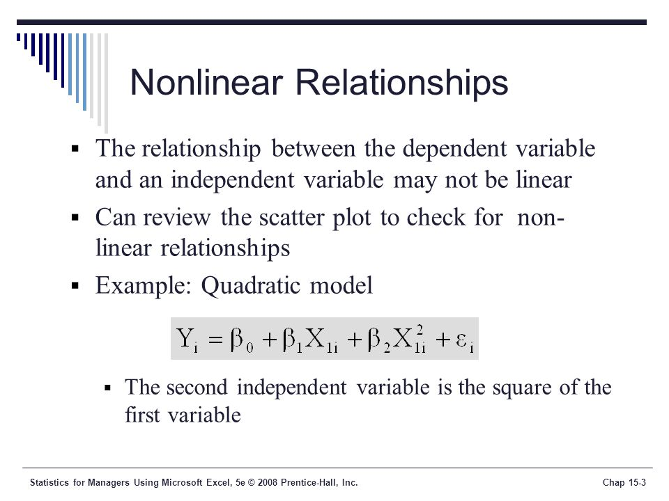 linear and nonlinear relationship