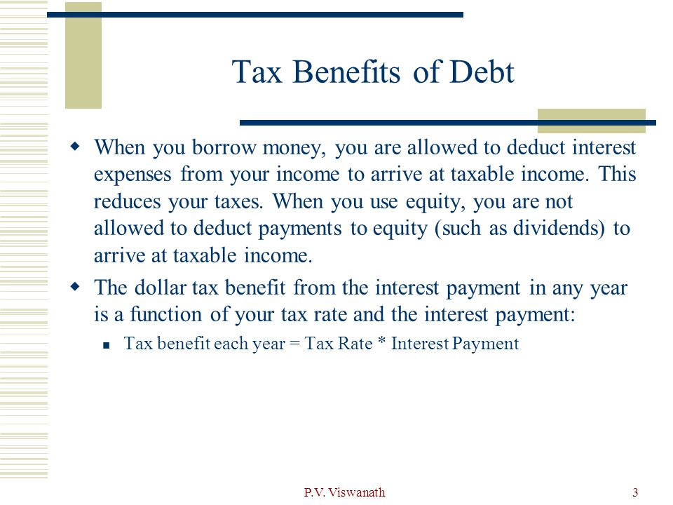 Tax Benefits of Debt