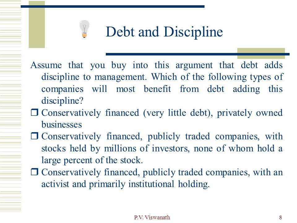 Debt and Discipline