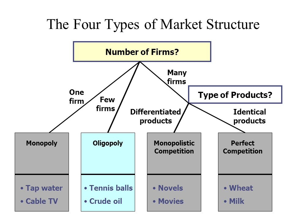 Four Different Market Structures Essay Sample