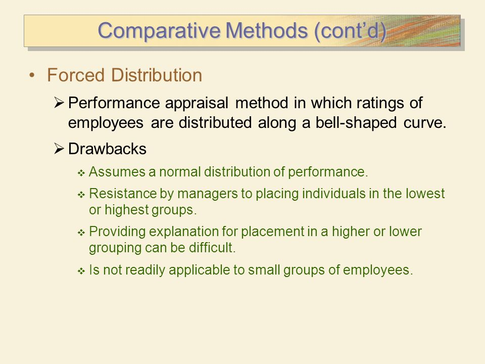 Comparative Methods (cont'd)