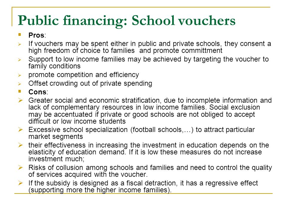 "a personal thoughts on school voucher issues Voucher system in hawaii thought lawmakers would support a school voucher system as was set schools, was wrong ""it's a personal choice for."