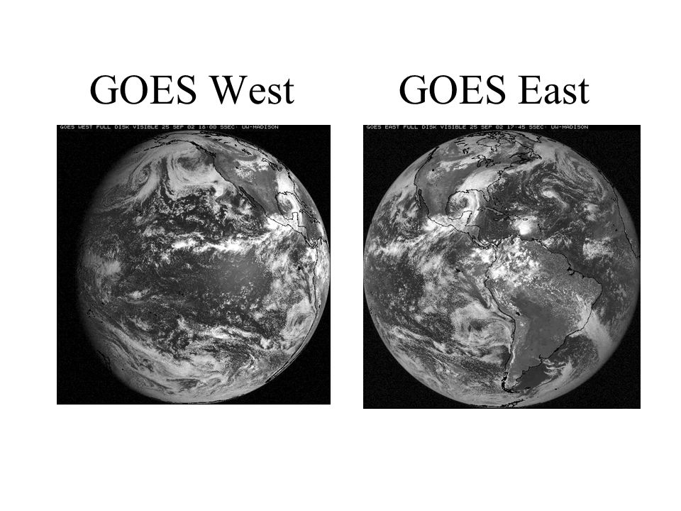 GOES West GOES East