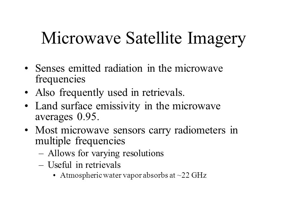 Microwave Satellite Imagery