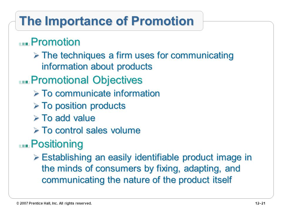 importance of sales promotion Sales and promotional strategies are important here because they allow you to ramp up marketing and to increase the bottom line without sacrificing efficiencies or service references (2.