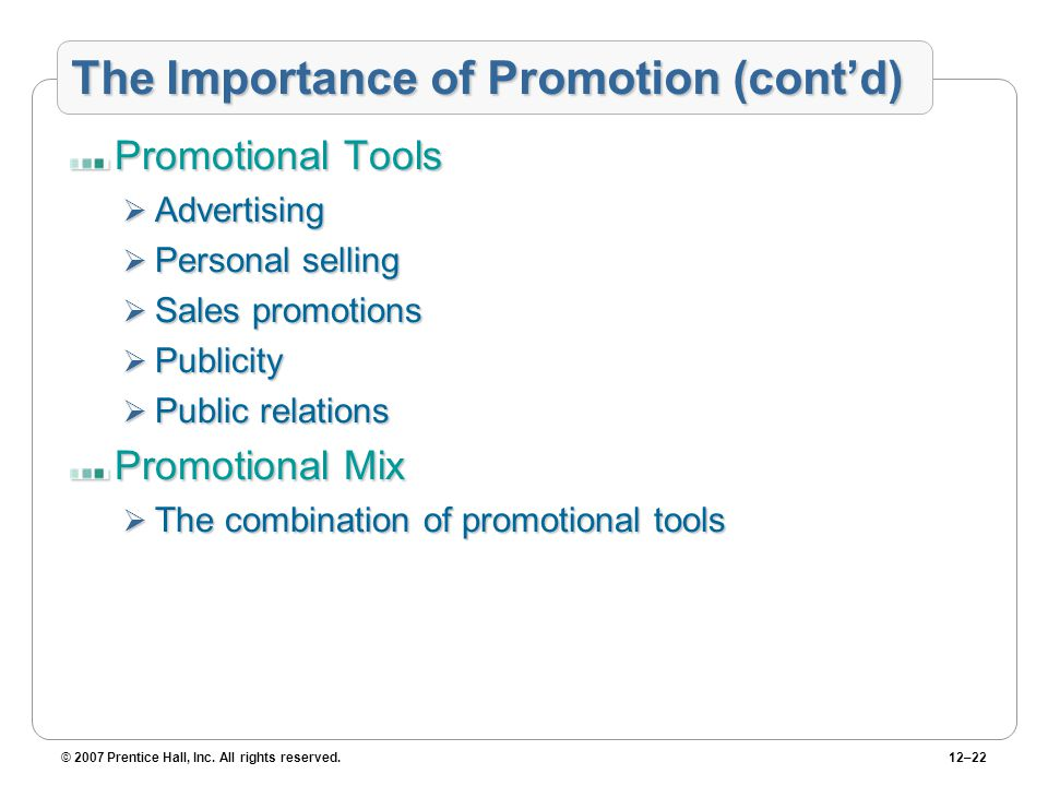importance of sales promotion A sales and marketing department performs market research, develops promotional plans and manages personal selling strategies often, marketing is a separate function from sales marketing does the research and strategic communication planning, while the sales department implements selling-specific.