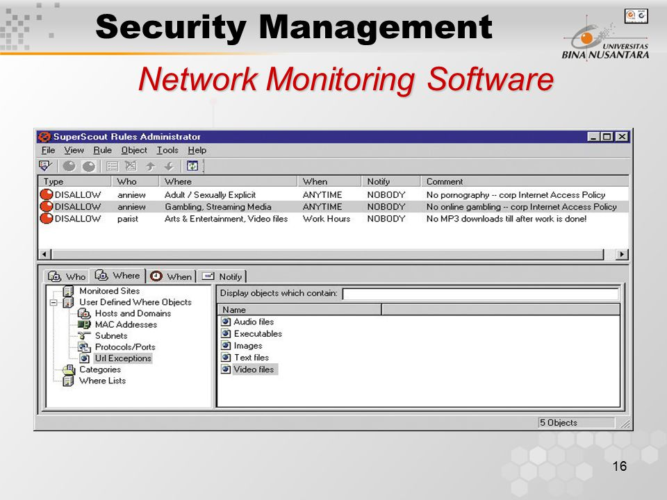 Network monitor requires full common parsers