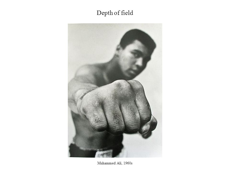 Depth of field Muhammed Ali, 1960s